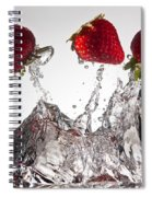 Three Strawberries Freshsplash Spiral Notebook
