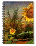 Three Sunflowers Spiral Notebook