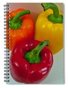 Three Sweet Peppers Spiral Notebook