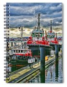 Three Tugs Hdr Spiral Notebook