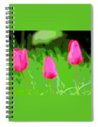 Three Tulips - Painting Like Spiral Notebook