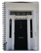 Three Whale Oil Row - Black Door - New London Spiral Notebook