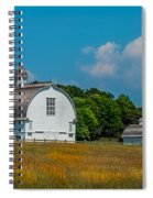 Three White Barns Spiral Notebook