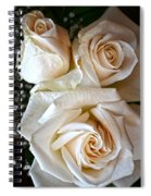 Three White Roses Spiral Notebook