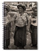 Three Women In Atitlan Spiral Notebook