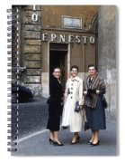 Three Women Mid Century Spiral Notebook