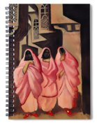 Three Women On The Street Of Baghdad Spiral Notebook