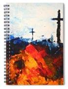 Three Wooden Crosses Spiral Notebook