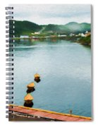 Three Yellow Boats Spiral Notebook