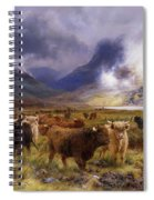 Through Glencoe By  Way To The Tay Spiral Notebook