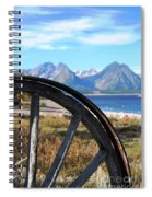 Through The Wheel Spiral Notebook