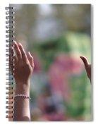 Throw Me Somethin' Hands Spiral Notebook