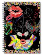 Throwing Kisses And I Love Yous Spiral Notebook