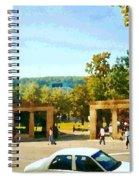 Thru Roddick Gates Your Future Awaits Mcgill University Paintings Montreal Art Carole Spandau Spiral Notebook