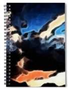 Thunder Clouds Expressive Brushstrokes Spiral Notebook