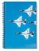 Thunderbird In Formation  Spiral Notebook
