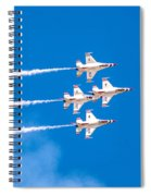 Thunderbirds And Blue Sky  Spiral Notebook