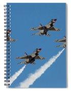 Thunderbirds Diamond Flyover Spiral Notebook