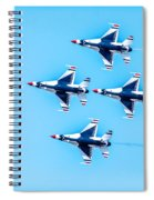 Thunderbirds Flying Over Spiral Notebook