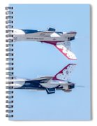 Thunderbirds In A Dangerous Formation Spiral Notebook