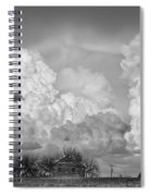 Thunderstorm Clouds And The Little House On The Prarie Bw Spiral Notebook