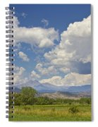 Thunderstorm Clouds Boiling Over The Colorado Rocky Mountains Spiral Notebook