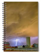 Thunderstorm Hunkering Down On The Farm Spiral Notebook