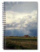 Thunderstorm On The Plains Spiral Notebook