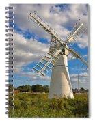 Thurne Dyke Windpump On The Norfolk Broads Spiral Notebook
