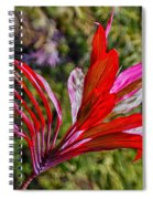 Red Ti Plant Spiral Notebook