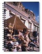 Tibet Market At Gyantse By Jrr Spiral Notebook
