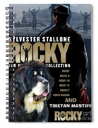 Tibetan Mastiff Art Canvas Print - Rocky Movie Poster Spiral Notebook