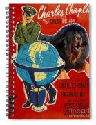 Tibetan Mastiff Art Canvas Print - The Great Dictator Movie Poster Spiral Notebook