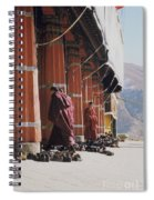 Tibetan Monks At Sera Spiral Notebook