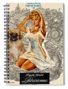 Tibetan Spaniel Art - Una Parisienne Spiral Notebook