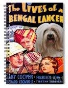 Tibetan Terrier Art - The Lives Of A Bengal Lancer Movie Poster Spiral Notebook