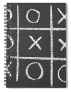 Tic-tac-toe On A Chalkboard Spiral Notebook