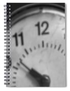 Tick Tock Goes The Clock 3 Spiral Notebook