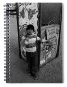 Ticket Booth Traveling Carnival Us Mexico Border Naco Sonora Mexico 1980 Spiral Notebook