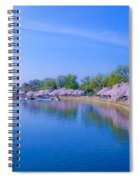 Tidal Basin And Washington Monument With Cherry Blossoms Spiral Notebook