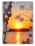 Tidal Basin Sunset With Cherry Blossoms Spiral Notebook