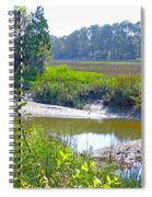 Tidal Creek In The Savannah Spiral Notebook
