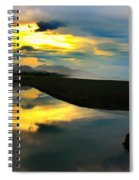 Tidal Pond Sunset New Zealand Spiral Notebook