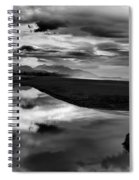 Tidal Pond Sunset New Zealand In Black And White Spiral Notebook