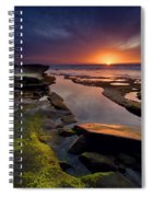 Tidepool Sunsets Spiral Notebook