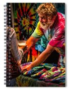 Tie Dye Guy Spiral Notebook