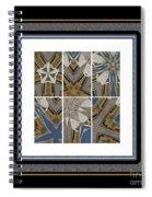 Tied To My Concrete Garden - Kaleidoscope - Hexaptych Spiral Notebook