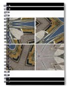 Tied To My Concrete Garden - Kaleidoscope - Segmented Art Spiral Notebook