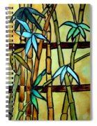 Stained Glass Tiffany Bamboo Panel Spiral Notebook