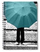 Tiffany Blue Umbrella Spiral Notebook